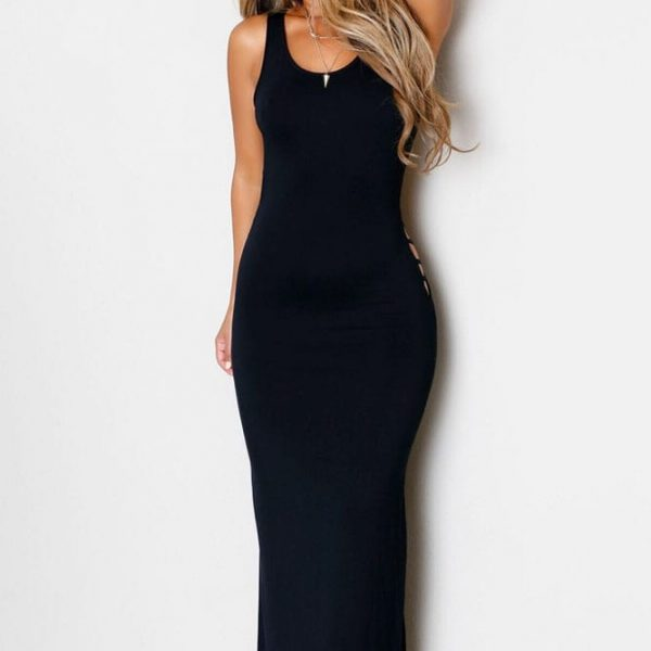 Women Tight Long Black Backless Prom Dresses - Online