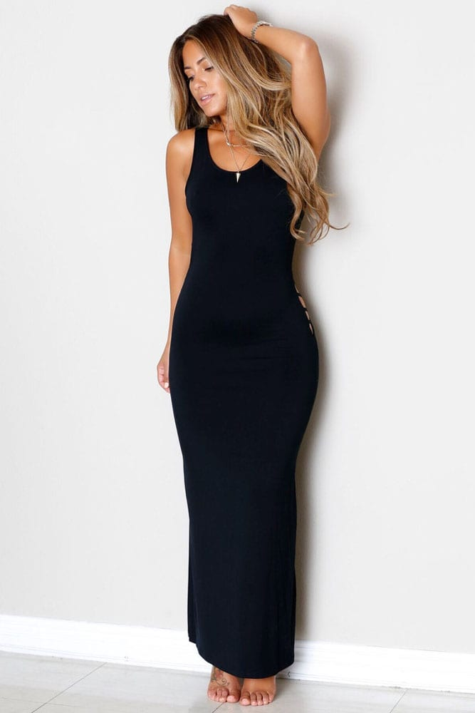 Women Tight Long Black Backless Prom Dresses Online
