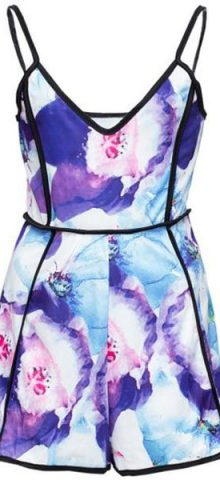 Women V Neck Floral Printed Trappy Dressy Rompers