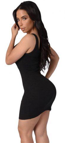 Black Sexy Strappy Mini Sleeveless Bodycon Dresses