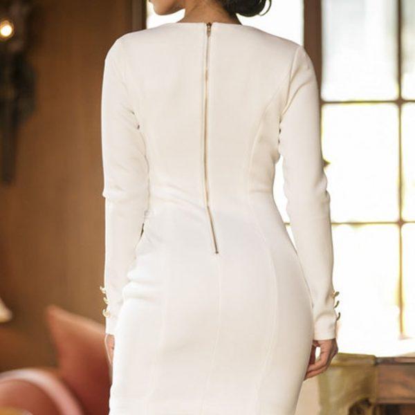 Sleeve polo bodycon dress long shirts white online