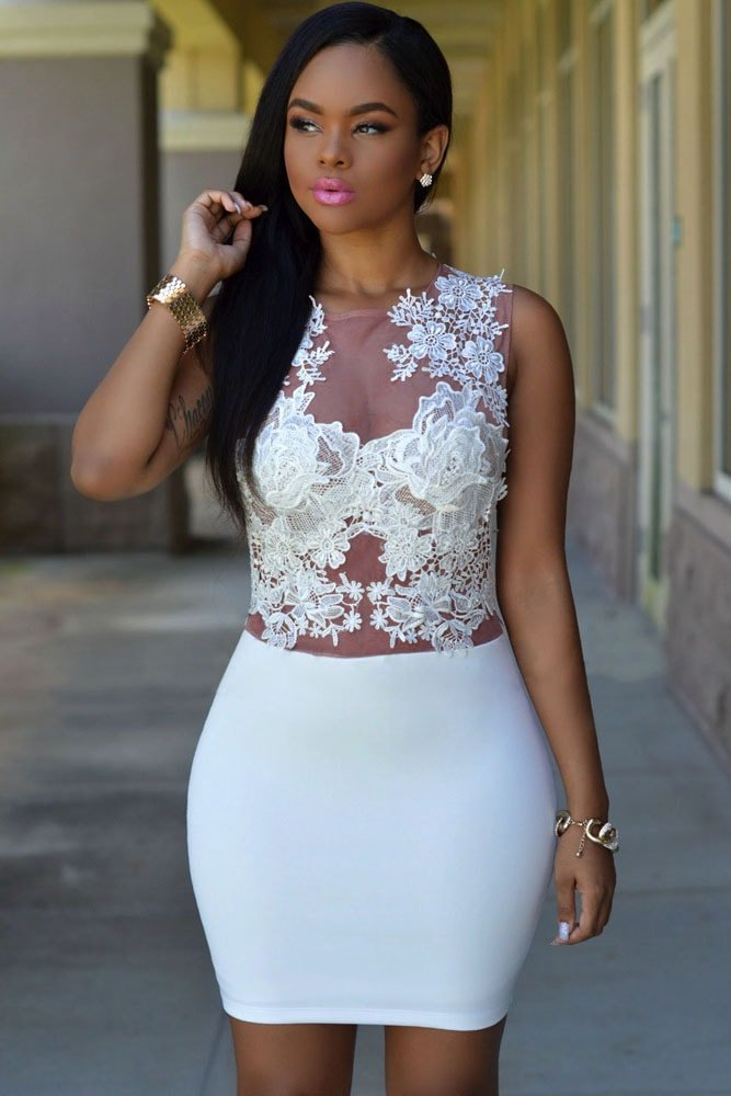 white lace dress short_Other dresses_dressesss