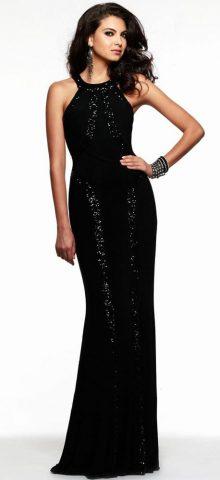 Women Evening Black Sparkly Mermaid Prom Dresses