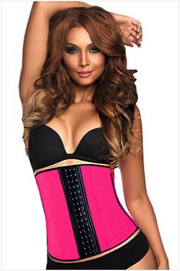 937b27f1e Women Pink Steel Boned Plus Size Waist Training Corset - Online ...
