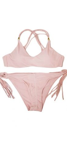 Girl 2 PCS Pink Strappy Cute Bathing Suits