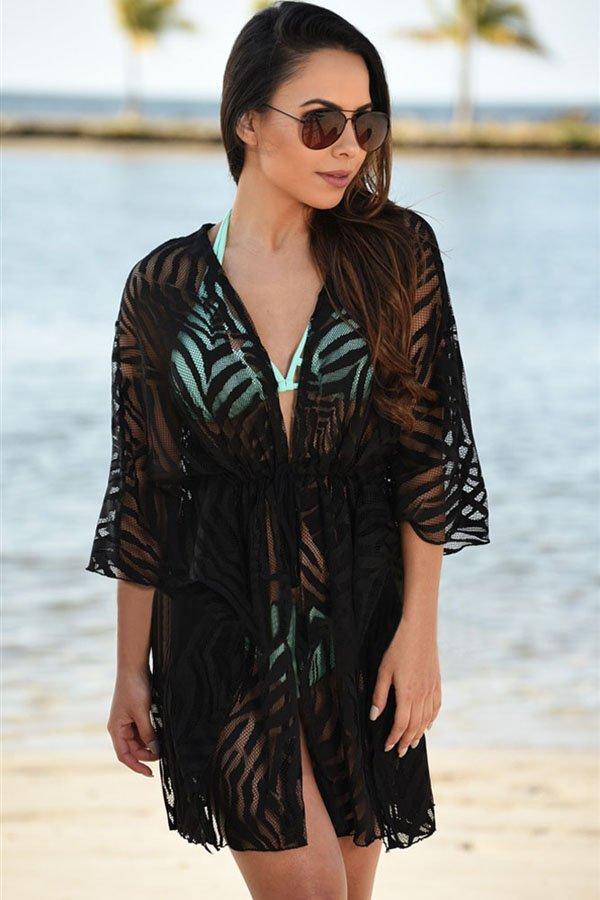 Hot Summer Women Sexy Black Beach Coverups - Online Store for Women Sexy Dresses