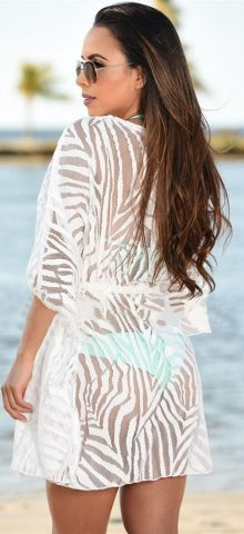 Hot Summer Women White Sexy Swimsuit Cover Up