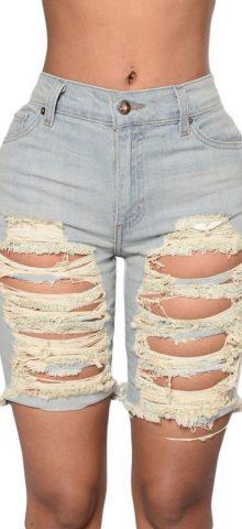 Sexy Tint Blue Cutoff Womens Denim Shorts