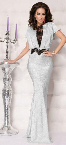 Women Elegant Mermaid Style Silver Formal Dresses