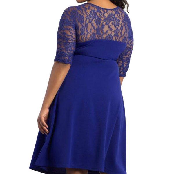 Cheap Plus Size Blue Dresses 10