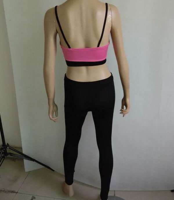 Hualong Cheap Cute Two Pieces Gym Clothes For Women