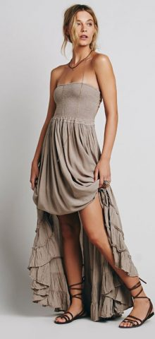 Hualong Free People Long Cotton Beach Sundresses