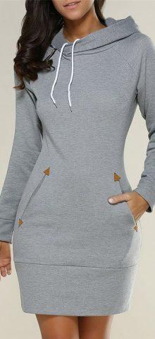 Hualong Long Sleeve Womens Hooded Sweatshirt