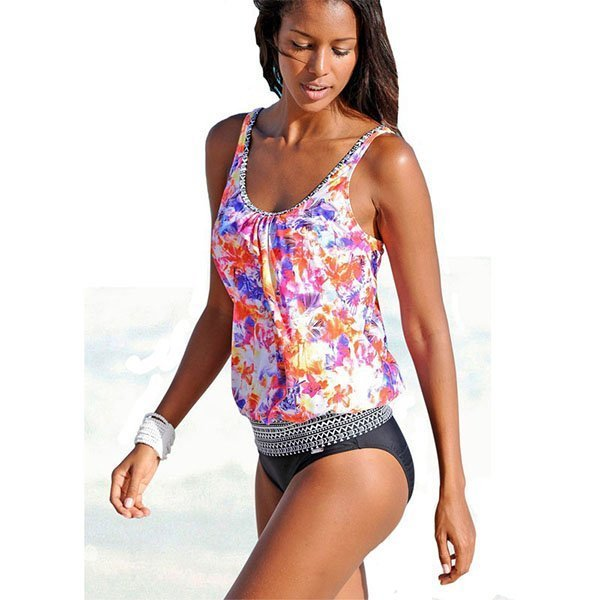 6531bbb726924 Hualong Flora Printed Two Piece Bathing Suits - Online Store for ...