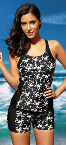 Hualong Flora Printed Two Pieces Full Figure Bathing Suits
