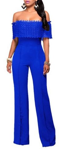 Hualong Formal Dressy Off The Shoulder Jumpsuit