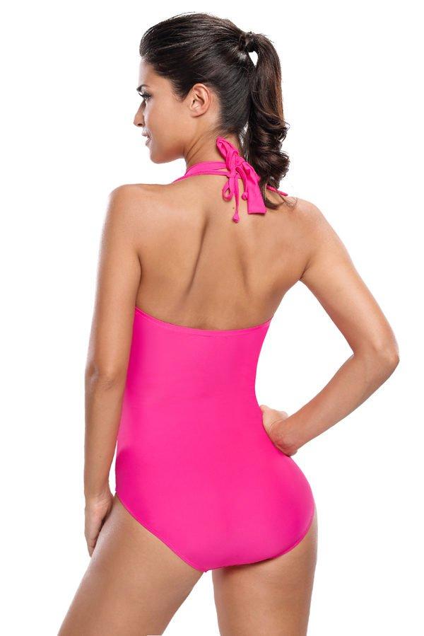 Hualong Halterneck Plus Size One Piece Swimsuits