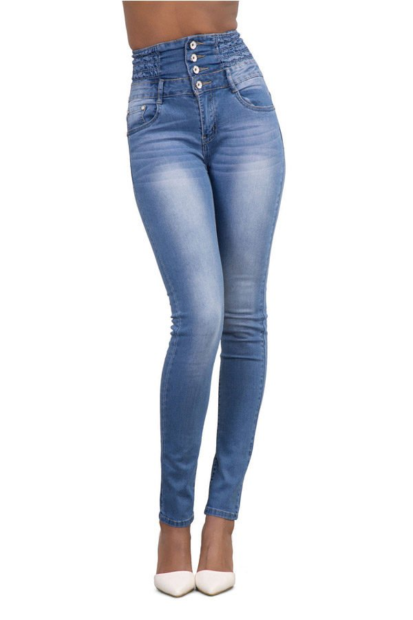 5caf0e71f7 Hualong Plus Size Skinny Super High Waisted Jeans - Online Store for ...