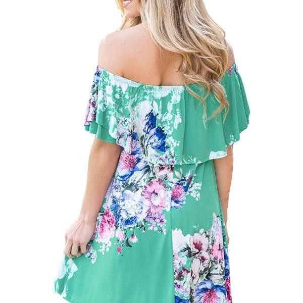 bee6944b41 Hualong Off The Shoulder Floral Semi Formal Dresses - Online Store ...