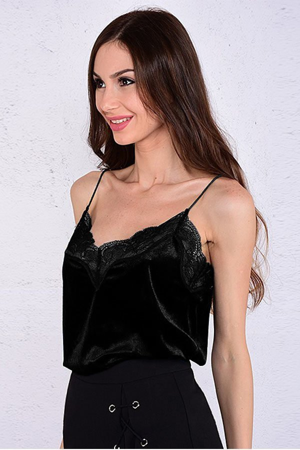 Hualong Women Sexy Strap Lace Camisole Top