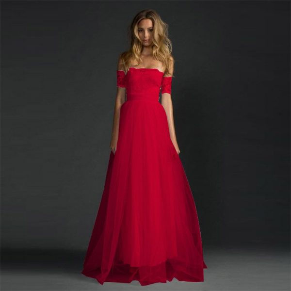 Hualong Long Lace Off Shoulder Formal Dresses For Juniors Online