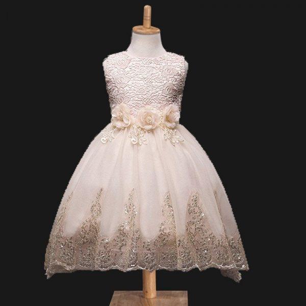 271ad0b1c82 Hualong Sleeveless Lace blue wedding flower girl dresses · Hualong  Sleeveless Lace rose gold flower girl dress ...