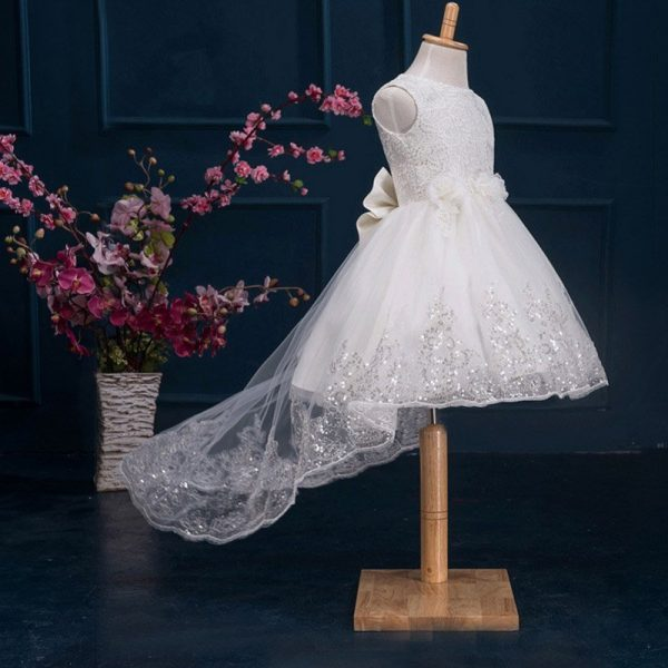 2cbaed488f4 Hualong Sleeveless Trailing Lace Flower Girl Dresses - Online Store ...