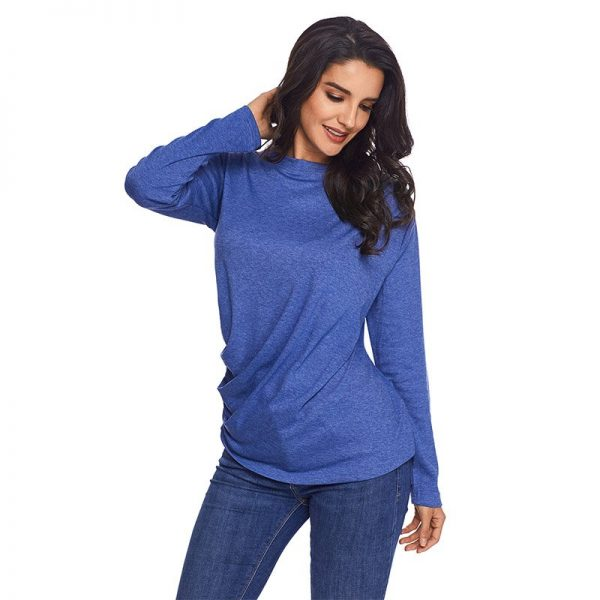 a14efd5d73 Hualong Polyester Blue Womens Loose Fitting Tops - Online Store for ...