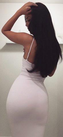 Hualong Sexy Club Strape White Open Back Dresses