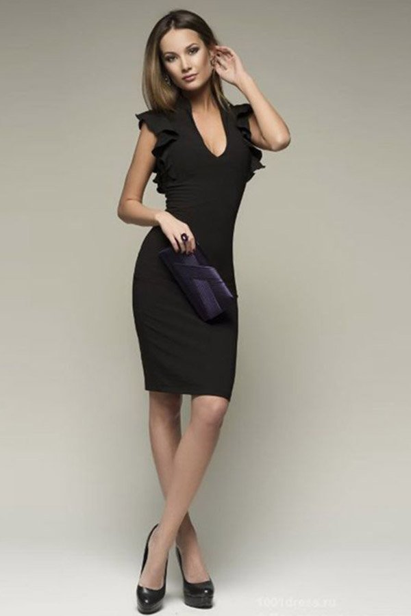 d4f17dd43 Hualong Sexy Flare Sleeve Black Bodycon Mini Dress - Online Store ...
