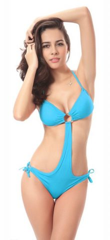 Hualong Beach Party Sexy Blue Single Piece Bikini