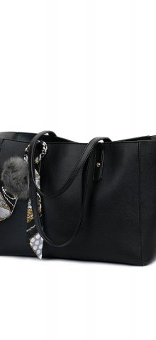 Hualong Fashion PU Black Leather Handbags