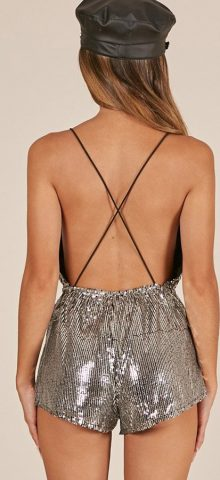 Hualong Sexy Club Sequin Dressy Rompers Jumpsuits