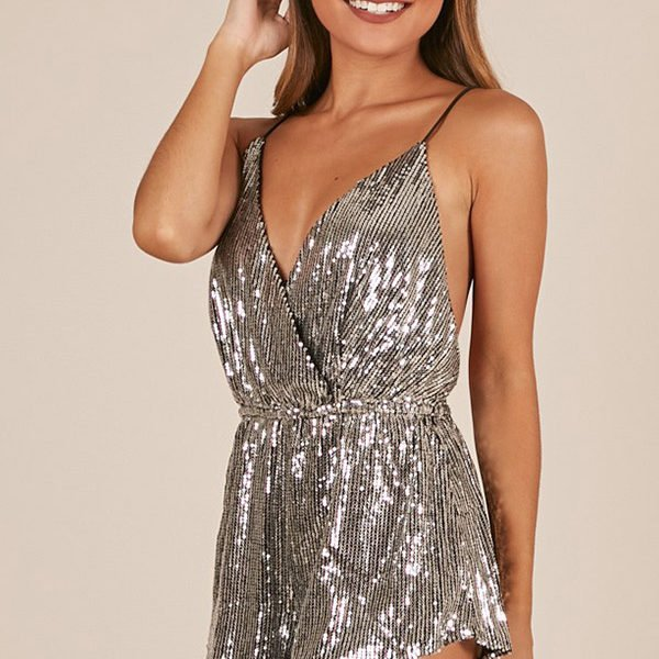 Hualong Sexy Club Sequin Dressy Rompers Jumpsuits Online Store For