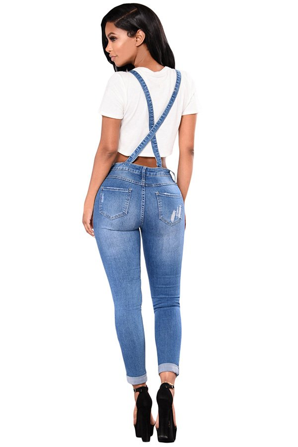 9d24ecb52 Hualong Women Strap Blue Jean Denim Jumpsuit 1 - Online Store for ...