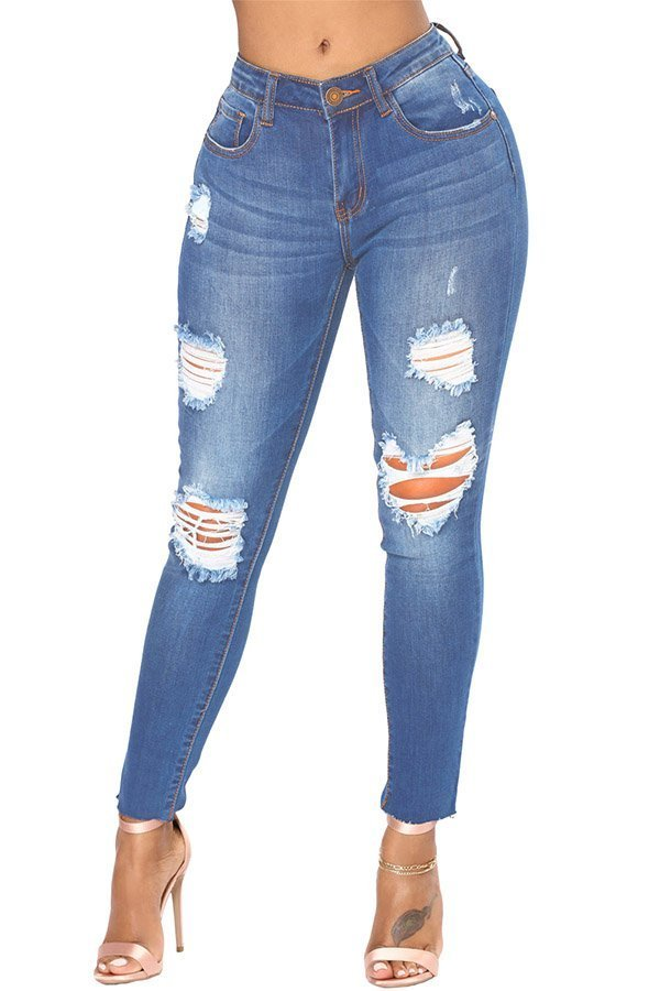 1a4840eb40 Hualong Womens Blue Destroyed And Distressed Jeans - Online Store for Women  Sexy Dresses meta name