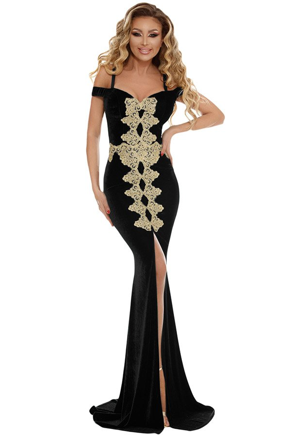 c8d713baa2 Hualong Sexy Black Front Slit Mermaid Dressing Gown - Online Store ...