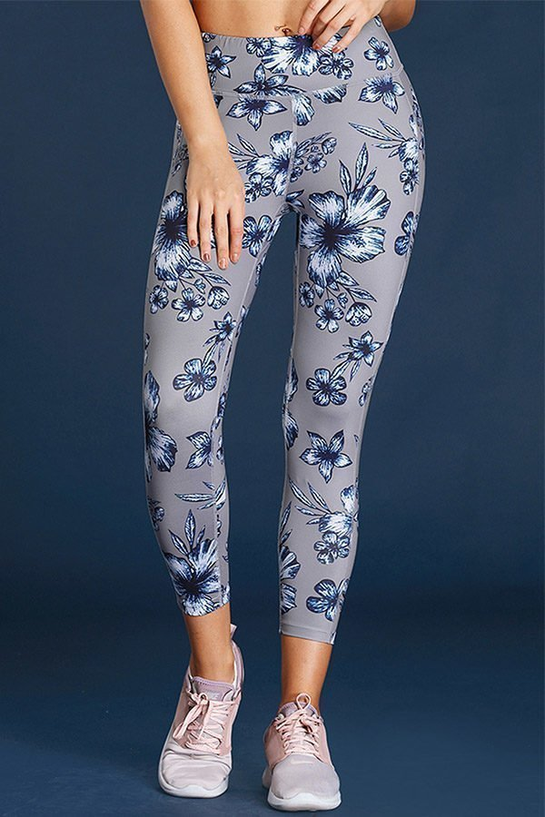 Hualong Skinny Floral Ladies High Waisted Active Leggings