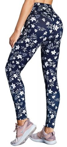 Hualong Skinny Floral Ladies High Waisted Yoga Leggings