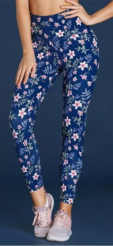 Hualong Women Skinny High Waisted Floral Trousers