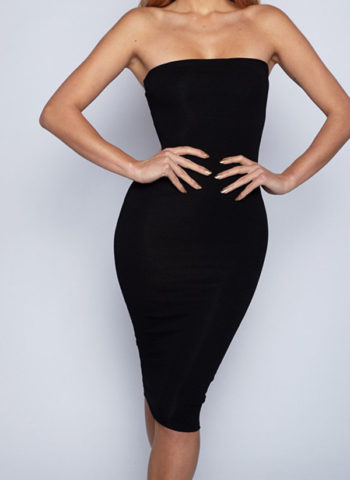 Hualong Sexy Short Black Off The Shoulder Bodycon Dress