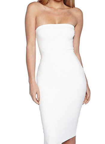 Hualong Sexy Short White Off The Shoulder Bodycon Dress 1