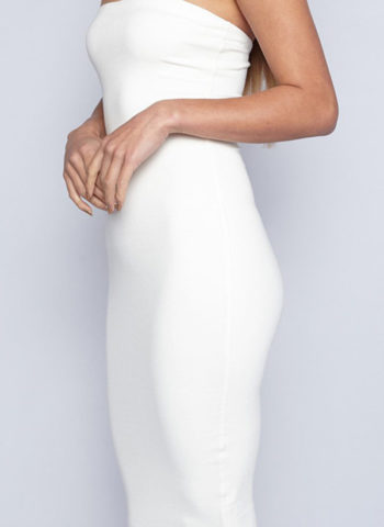 Hualong Sexy Short White Off The Shoulder Bodycon Dress 2