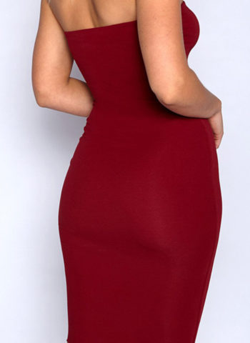 Hualong Sexy Short Wine Off The Shoulder Bodycon Dress2
