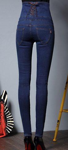 Hualong Women High Waisted Plus Size Skinny Jeans