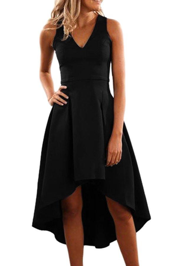Hualong Sexy Sleeveless Little Black Cocktail Dresses