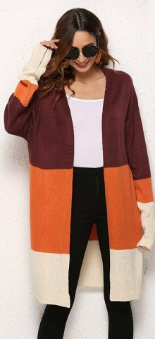 Hualong Fashionable Long Cardigan Knitting Pattern