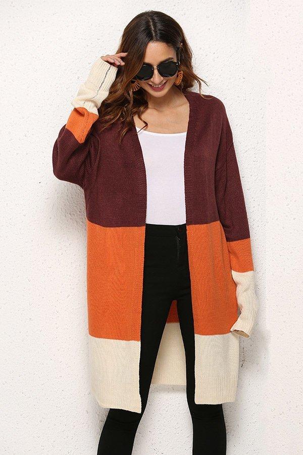 Hualong Fashionable Long Cardigan Knitting Pattern Online Store