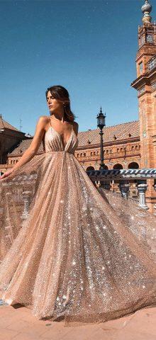 Hualong Sexy Floor Length Long V Neck Prom Dress