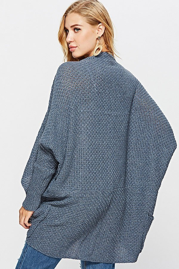 Hualong Women Batwing Sleeve Loose Knit Sweater